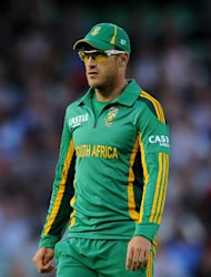 Faf du Plessis did the damage as India crashed out of the World Twenty20
