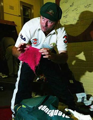 Steve Waugh with his red hanky.