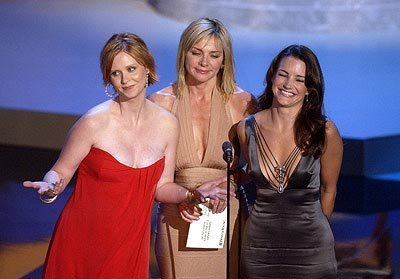 Cynthia Nixon, Kim Cattrall and Kristin Davis Emmy Awards - 9/22/2002