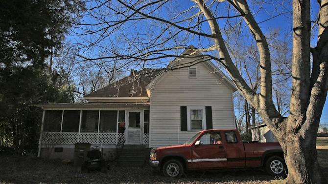 This Jan. 7, 2013 photo shows the former home of Margaret Tessneer in Shelby, N.C. Jury selection in the trial of Donald Borders, 53, of Cherryville, N.C., on charges of rape and murder, is slated to begin Monday, Jan. 14, 2013. The looming legal proceeding has reopened old wounds for survivors of three women killed in 2003, including Tessneer, and other residents of this tightknit city of 20,000 about 50 miles west of Charlotte. And it has raised questions about whether any of the cases will ever truly be resolved. (AP Photo/The Shelby Star, Ben Earp)