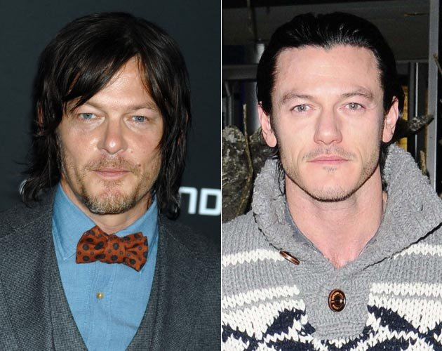 """The Walking Dead""-Star Norman Reedus (l.) soll im ""The Crow""-Remake neben Luke Evans (r.) spielen. (Bilder: ddp images & Capital Pictures/ Can)"