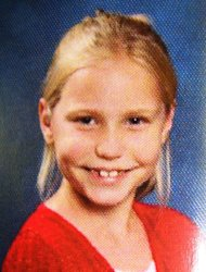 This undated photo released by the Etowah County Sheriff's Dept. Wednesday, Feb. 22, 2012 shows 9-year-old Savannah Hardin. Authorities say they've charged a grandmother and stepmother of the girl, who died after being forced to run as punishment. Etowah County sheriff's officials say 46-year-old Joyce Hardin Garrard of Carlisle and 27-year-old Jessica Mae Hardin are accused of murder in the death of Savannah Hardin. Investigators say Garrard allegedly made the girl run without stopping for there hours as punishment for lying to her. (AP Photo/Etowah County Sheriffs Office)