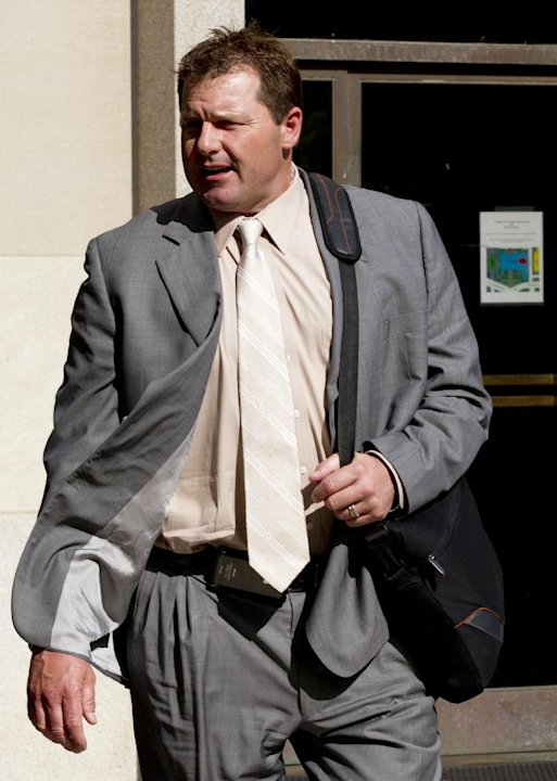 Former Major League Baseball pitcher Roger Clemens, who is accused of lying to Congress in 2008 when he denied using performance-enhancing drugs, leaves federal court in Washington, Friday, May 25, 20