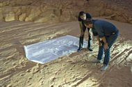 Track marks thought to have come from stampeding dinosaurs may actually come from swimming dinosaurs at a major river crossing, new research suggests.