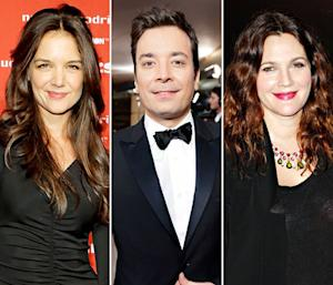 Katie Holmes, Drew Barrymore Hang With Jimmy Fallon at Private Super Bowl Party