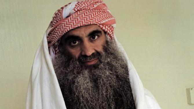 FILE - This file photo downloaded from the Arabic language web site www.muslm.net, believed to have been taken in July 2009, shows a man identified by the site as Khalid Sheikh Mohammed, the accused mastermind of the Sept. 11 attacks, in detention at Guantanamo Bay, Cuba. The picture was allegedly taken by the International Committee of the Red Cross (ICRC) and released only to the detainee's family. Confined to the basement of a CIA secret prison in Romania about a decade ago, Mohammed asked his jailers whether he could embark on an unusual project: Would the spy agency allow Mohammed, who had earned his bachelor's in mechanical engineering, to design a vacuum cleaner? (AP Photo/www.muslm.net, File)
