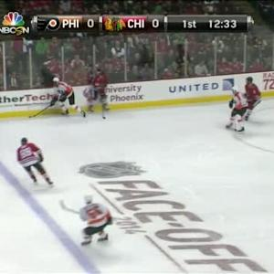 Antti Raanta Save on Wayne Simmonds (07:30/1st)