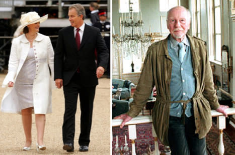 Then: John Gielgud. Now: Tony and Marie Blair
