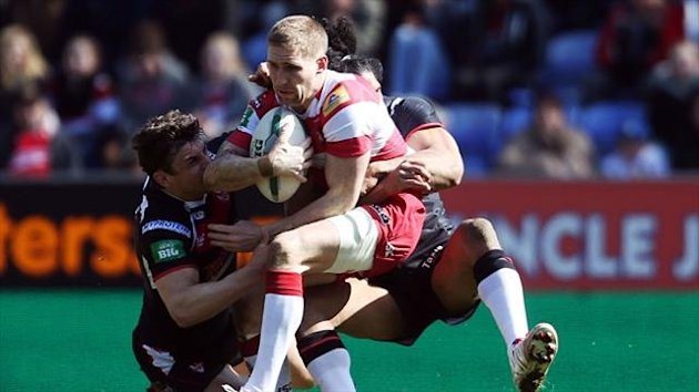 Josh Jones, left, believes the win over Wigan was pivotal