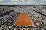 The French Open tennis championship at the Roland Garros stadium