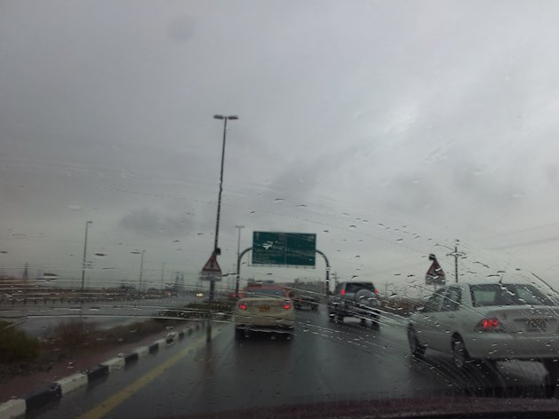 Most parts of Dubai, Sharjah and Al Ain saw rains through the night and Monday morning. Photo by Samreen Hayat