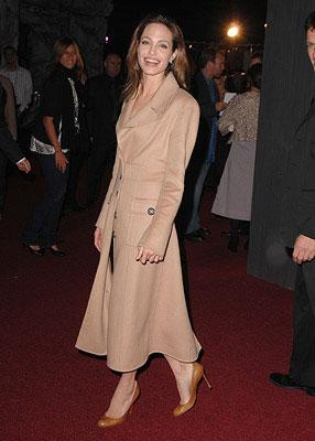 Angelina Jolie at the Westwood premiere of Paramount Pictures' Beowulf