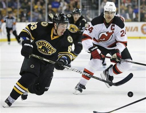 Bruins top Devils 2-1 on Marchand's shootout goal