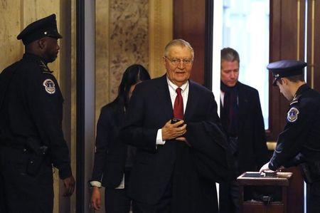 Former U.S. Vice President Walter Mondale arrives to witness the first day of the 114th Congress on Capitol Hill in Washington