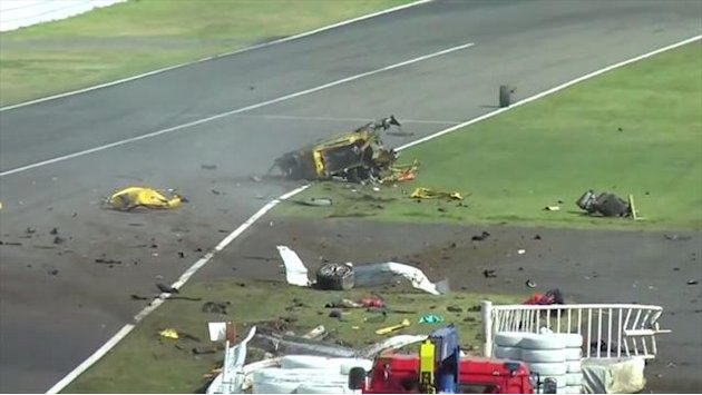 Motorsports - Driver and steward survive horrific Ferrari crash at Suzuka