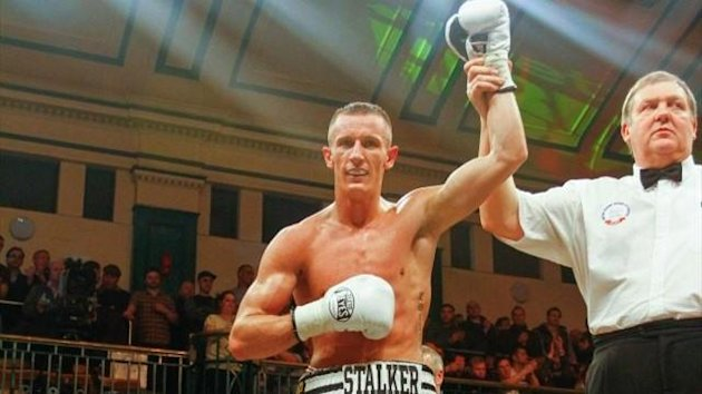 Team GB boxing captain Tom Stalker wins his professional debut at York Hall (photo: Neill Hamersley
