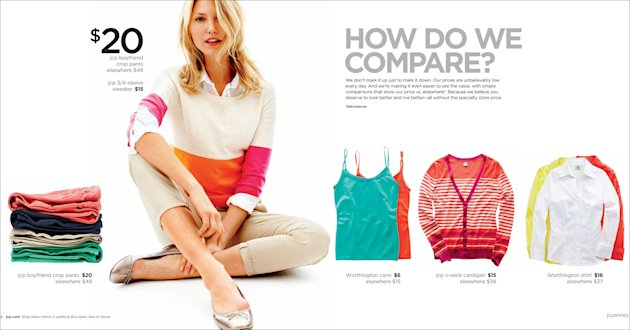 &lt;p&gt;               This image provided by J.C. Penney shows the company&#39;s new advertising campaign. Penney is still embracing its fair and square strategy as the cornerstone of its reinvention plan, and says the promotions will be targeted. But the latest tactic acknowledges that middle-income shoppers can&#39;t be weaned off sales. (AP Photo/J.C.Penney)
