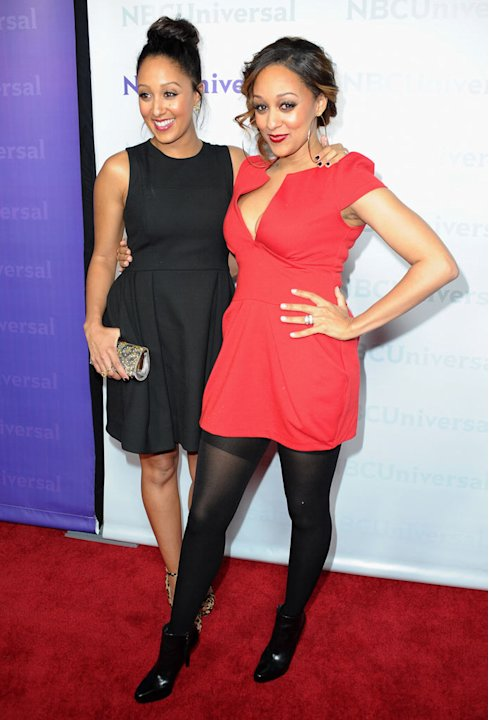 Tamera Mowry and Tia Mowry (&quot;Tia &amp; Tamera&quot;) attend the 2012 NBC Universal Winter TCA All-Star Party at The Athenaeum on January 6, 2012 in Pasadena, California. 