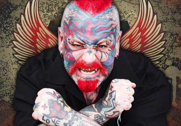 A former tattoo artist who legally changed his name to The Scary Guy is