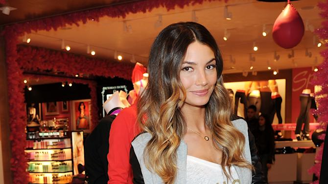 This Nov. 19, 2012 photo shows model Lily Aldridge at the Victoria's Secret Herald Square store in New York. The California native has been a Victoria's Secret model since 2009, has walked the runway for Rag & Bone and Giles Deacon and appeared in ads for Coach, Clinque and Anthropologie. (Photo by Evan Agostini/Invision/AP)