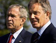 "Former US president George W Bush and British ex-prime minister Tony Blair, seen here during a 2007 summit meeting in Germany, have been found guilty at a mock tribunal in Malaysia for committing ""crimes against peace"" during the Iraq war"