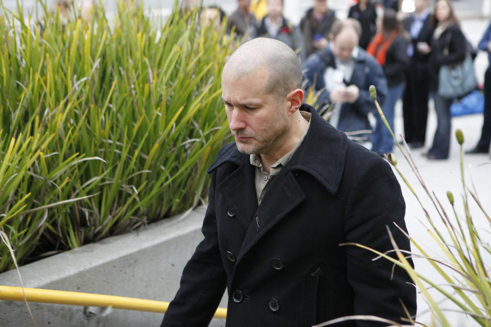 In this Jan. 27, 2010 photo, shows Apple Jonathan Ive, Apple senior vice president of Industrial Design, leaving an Apple conference in San Francisco. (AP Photo/Paul Sakuma)