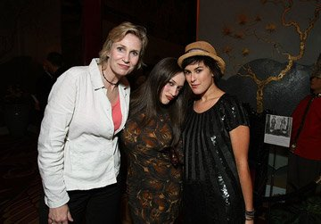 Jane Lynch , Kat Dennings and Rumer Willis at the Los Angeles premiere of Columbia Pictures' Superbad