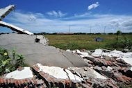 A wall of a prison which collapsed after powerful earthquake hit west coast of Indonesia, in Banda Aceh on April 11. An 8.7 earthquake that struck west of Indonesia on April 11 was the biggest of its kind ever recorded and confirms suspicions that a giant tectonic plate is breaking up, scientists said on Wednesday