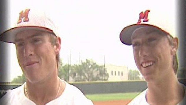 Roger Clemens' sons Kacy and Kody Clemens star for Memorial High &#x2014; KTVU video screenshot