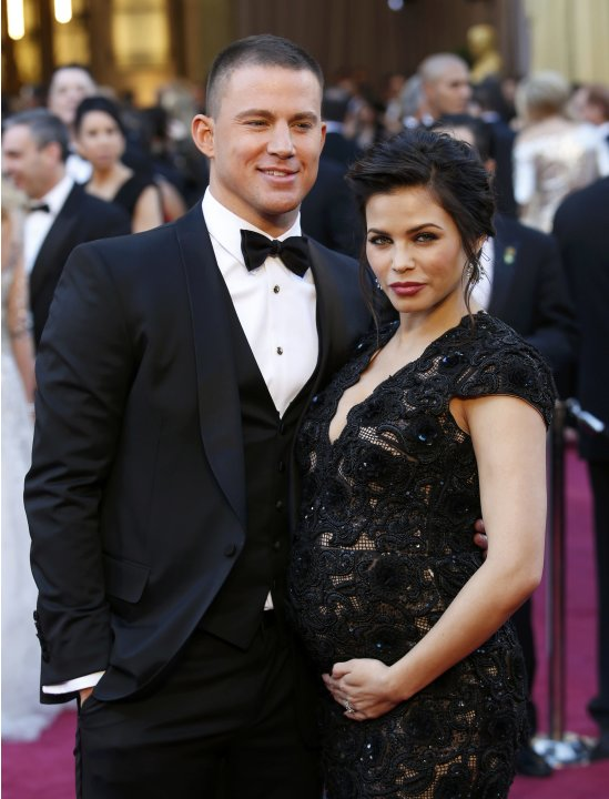 Channing Tatum and wife Jenna Dewan arrive at the 85th Academy Awards in Hollywood
