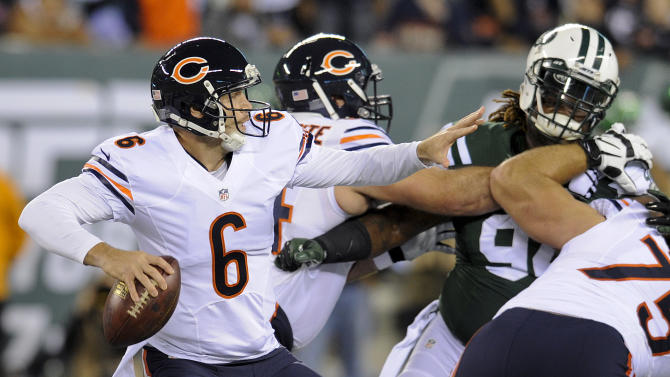 Bears lead Jets 17-13 after 2nd quarter