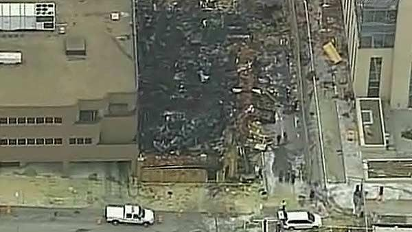 Daytime view of KC explosion damage