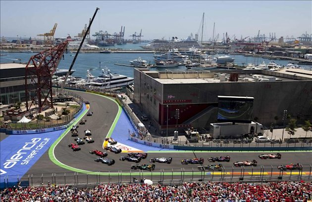 Vista del circuito urbano de Valencia donde se disputa el Gran Premio de Europa de Frmula Uno. EFE/Archivo