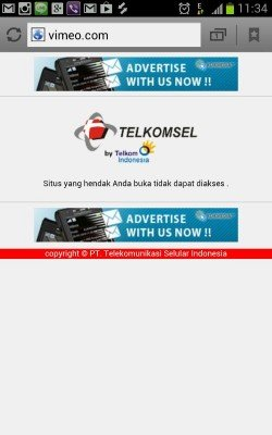 telkomsel blocks vimeo
