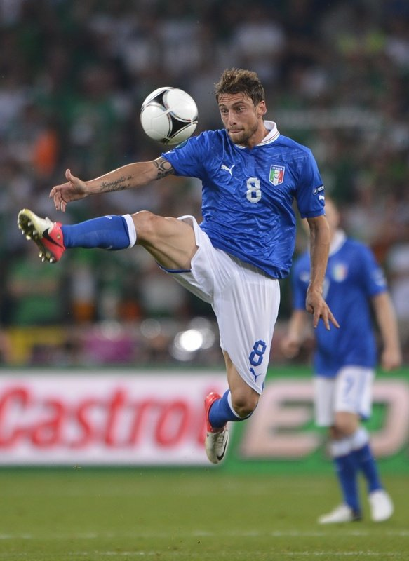 Italian Midfielder Claudio Marchisio Controls AFP/Getty Images