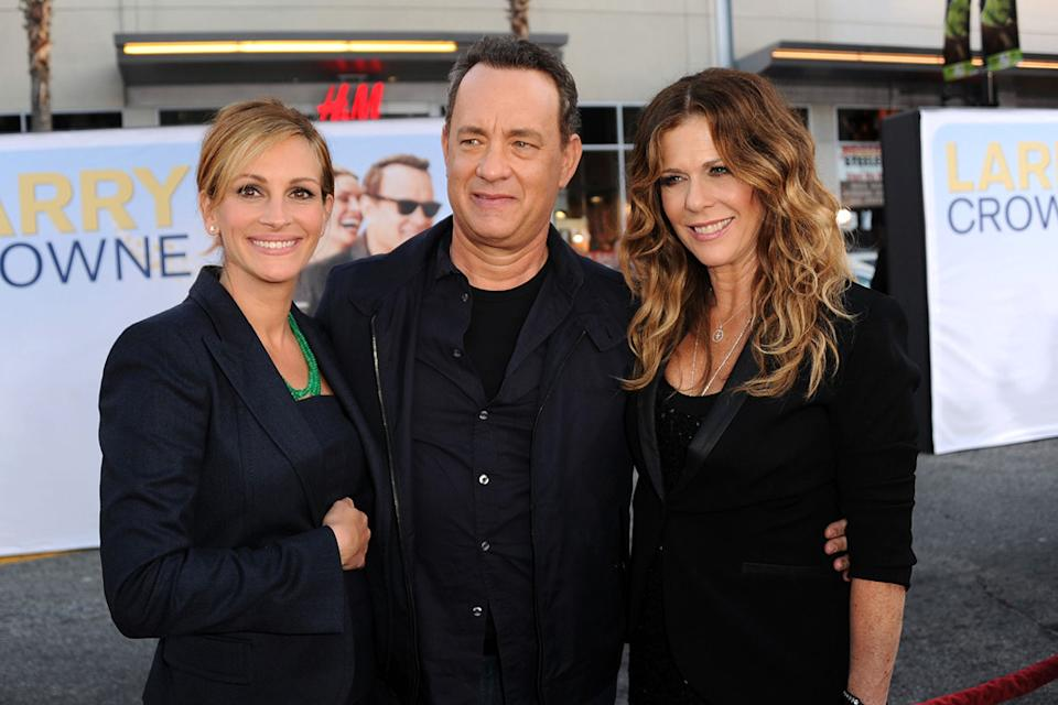 Larry Crowne LA Premiere 2011 Julia Roberts Tom Hanks Rita Wilson