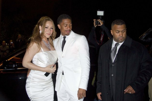 Musician Mariah Carey and husband Nick Cannon arrive at the Eiffel Tower to attend their vow renewal ceremony in Paris