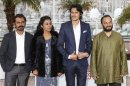 Director Amit Kumar and cast members pose during a photocall for the film 'Monsoon Shootout' at the 66th Cannes Film Festival in Cannes