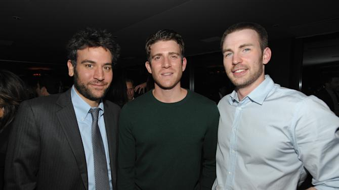 IMAGE DISTRIBUTED FOR DETAILS MAGAZINE - From left, Josh Radnor, Bryan Greenberg and Chris Evans attend DETAILS Hollywood Mavericks Party on Thursday, Nov. 29, 2012 in Los Angeles. (Photo by John Shearer/Invision for Details Magazine/AP Images)