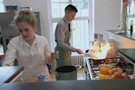 Series fittie Lucy Beauvallet tries some recipes with Steven Cole