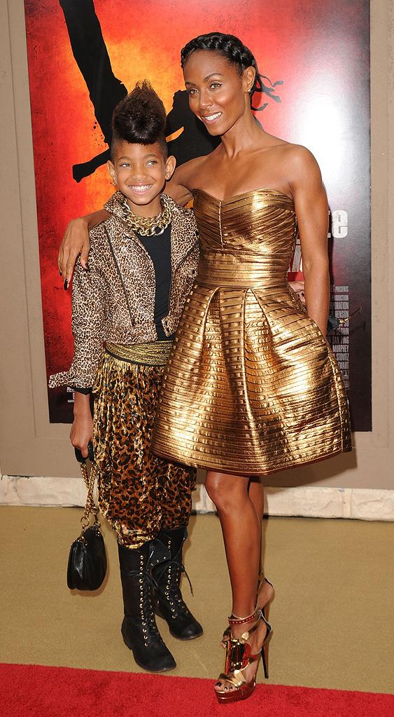 The Karate Kid LA Premiere 2010 Willow Smith Jada Pinkett Smtih