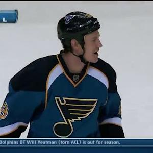 Jay Bouwmeester rifles one top-shelf