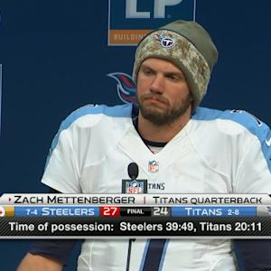 Tennessee Titans quarterback Zach Mettenberger: Needed to make a few more plays to win