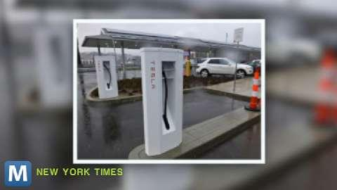 Tesla Launches First Electric Charging Stations on East Coast