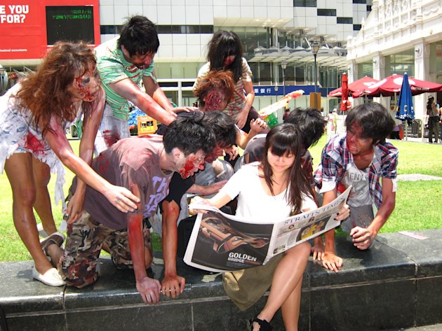 ZOMBIES INVADE RAFFLES PLACE Photos | ZOMBIES INVADE RAFFLES PLACE ...
