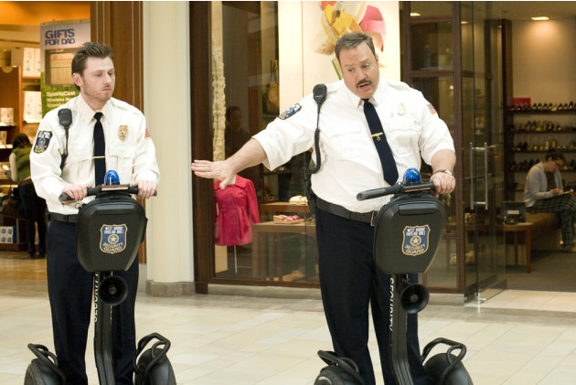 Keir O'Donnell Kevin James Paul Blart: Mall Cop Production Stills Columbia 2009