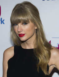 Taylor Swift attends Z100's Jingle Ball on Friday, Dec. 7, 2012 in New York. (Photo by Charles Sykes/Invision/AP)