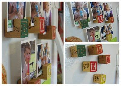 Alphabet Blocks Photo Display