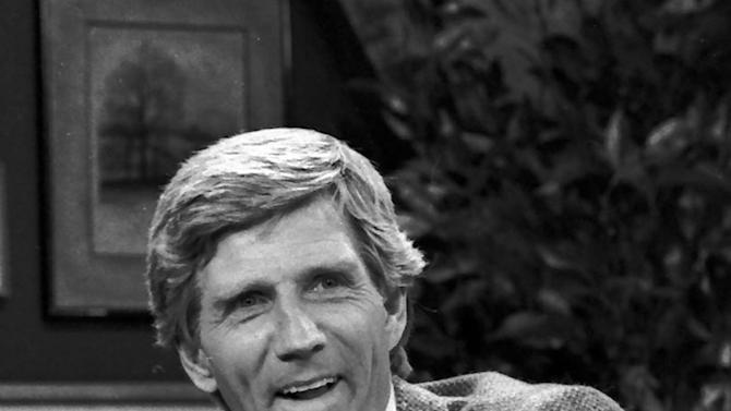 """FILE - This Aug. 1982 file photo shows Gary Collins. Gary Collins, an actor, television show host and former master of ceremonies for the Miss America Pageant, died Saturday, Oct. 13, 2012 in Biloxi, Miss. He was 74. During the 1980s, Collins hosted the Miss America pageant and the television shows """"Hour Magazine"""" — for which he won a Daytime Emmy in 1983 — and """"The Home Show."""" (AP Photo/File)"""
