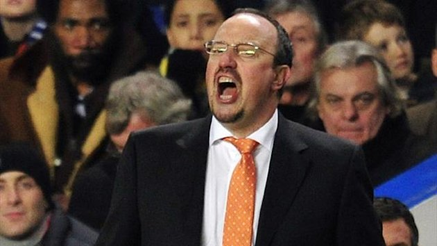 Chelsea manager Rafael Benitez against Fulham (AFP)